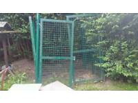 Dog cage shed security