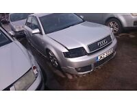 2002 AUDI A4 SE, 1.9 TDI, BREAKING FOR PARTS ONLY, POSTAGE AVAILABLE NATIONWIDE