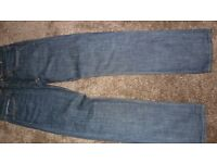 American Eagle Outfitters Dark Rinse slim straight Jeans 32 Waist 34 Leg