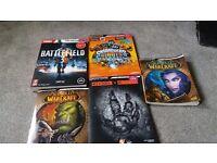 Selection of gaming manuals