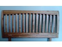 Double bed size solid wood headboard