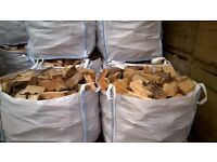 Hardwood firewood for sale in cubic meter bag. £65 per bag.