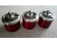 Red Storage canisters