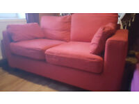 Large Red 2 Seater Sofa