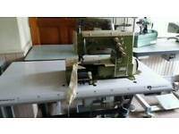 Rimoldi 263 flatbed coverstitch/interlock machine