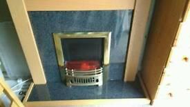 Light Oak fireplace and Electric Coal effect fire