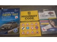 Theory test books and dvd