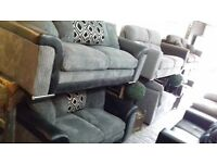 3/2 grey and black sofas