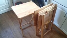 4 Pine Foldable Tables