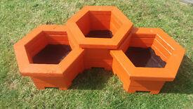SET OF 3 HANDMADE PLANTER BOXES