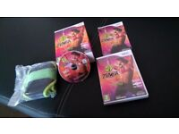 Zumba fitness game cd for Wii, Inc belt