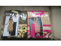 Ladies Salwar Kameez Semi Stitiched Suits x2