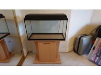 110 Fish tank with cabinet and external filter