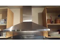 Tecnik cooker hood on brushed chrome finish