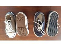 Infant/Toddler Converse and Vans size 6.5 and 7