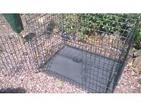 travel dog cage fits bull mastiff.