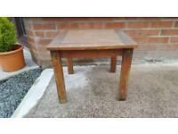 Mahogany garden side table