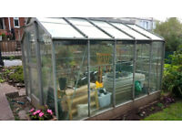 10'x6' greenhouse. No rust, but faded. One pane broken. Dismantle & take away FREE