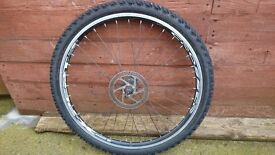 "Mountain bike front wheel 'crosser' 26"" with kenda desert tyre"