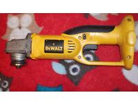 DEWALT 18 VOLT-DC410 cordless grinder