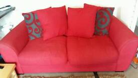 2 red two seater sofas NEED GONE TODAY!!!