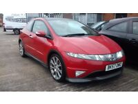 HONDA CIVIC 1.8 I-VTEC TYPE S GT, FSH, PANORAMIC ROOF!