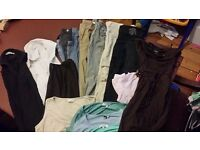 Maternity Clothes various 19 items 6 trousers/jeans 2 shirts 5 tops and various others.