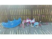 Bundle of kids outdoor toys
