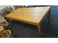 Extra large solid oak dining table,100% solid wood very heavy,possible delivery