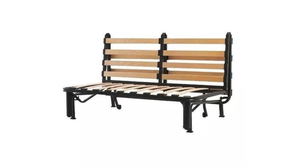 Ikea Sofa Bed Frame Only Two Seat Futon Lycksele Black