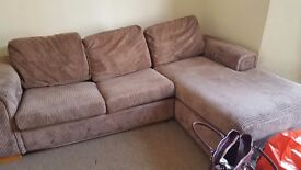 Free corner sofa bed 6ft x 9ft must be collected monday