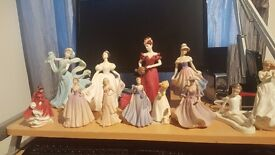 Royal doulton and coalport figures
