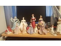 Royal doulton and coalport figures