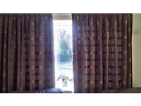 Orange and Brown curtains