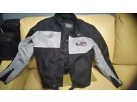 Armour canvas motorbike jacket.