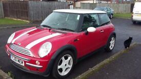 Gorgeous much loved Mini Cooper 2002, low mileage new tyres. Good condition inside and out.