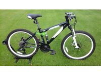 KIDS CARRERA DETONATE FS DISC SPEC MOUNTAIN BIKE * FULLY SERVICED / GREAT CONDITION *