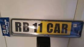 Number plate sourround