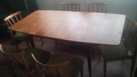 Beautiful danish style table and six chairs