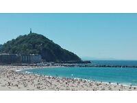 FLAT IN A BEACH FRONT BUILDING. SPAIN. DONOSTIA SAN SEBASTIAN (EUROPEAN CAPITAL OF CULTURE)