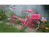 Raleigh Red or Dead Womans Classic Nostalgic Bike