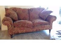 Good quality Sofa Workshop sofa. Less than ten years old with Kilim style fabric.