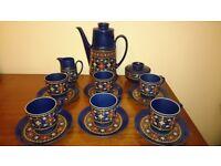 1970s Winterling Bavaria coffee set for six