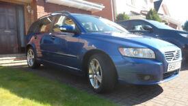 2008(58) Volvo V50 Estate 1.8 SE Petrol in Brilliant Blue. Great Condition.