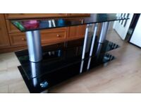 3 Tier Glass Stainless Steel Small Display Stand Side End Lamp Coffee Table