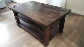Coffee table.Solid morrocan wood