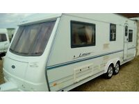 Coachman laser 5berth double axle touring caravan