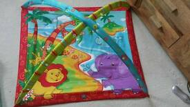 Baby play mat + toys