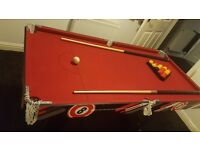 5 foot pool/snooker table for sale