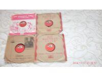 RARE-VINTAGE-BENJAMINO GIGLI-4 X 10.INCH 78'S VINYL RECORDINGS.-EX
